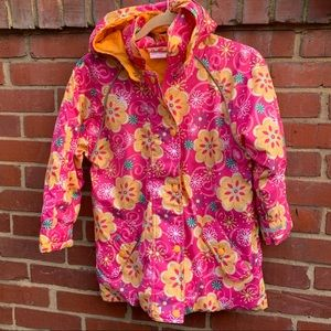 Hanna andersson floral puffer jacket